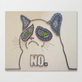 059: Grumpy Feline - 100 Hoopties Canvas Print