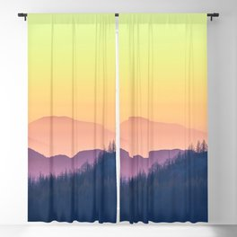 Calm Yellow Sunset Blackout Curtain
