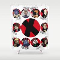 xmen Shower Curtains featuring Xmen Evolution - Team Xmen by TMNT-Raph-fan