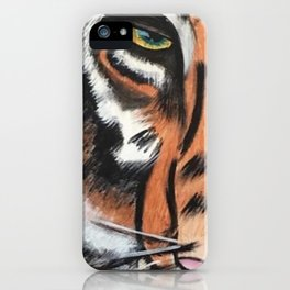 Eye of the Tiger by Noelles Art Loft iPhone Case