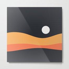 Geometric Landscape 22 Night Metal Print