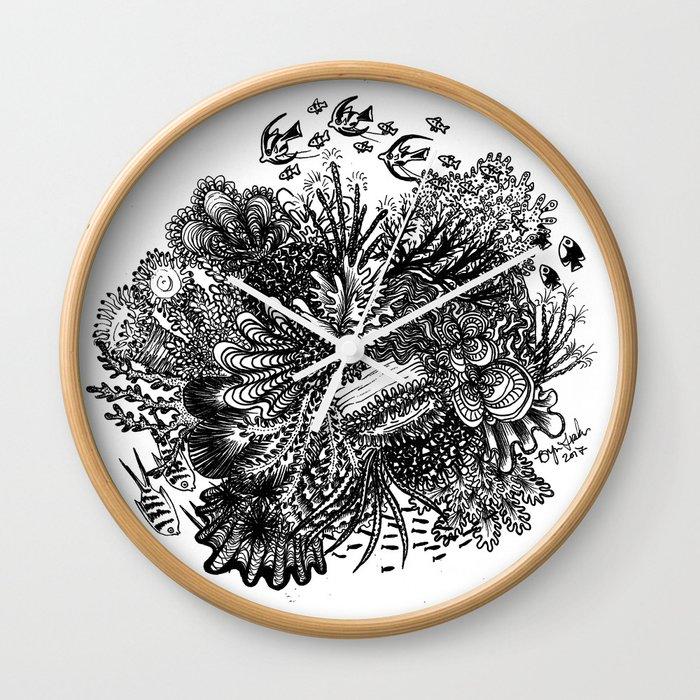 Coral Circle Wall Clock