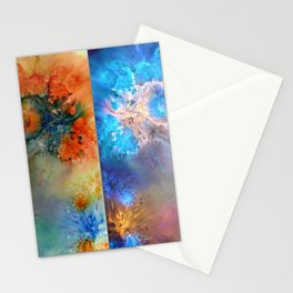 Abstract Rorschach Nebula Stationery Cards