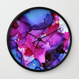 Feeling All Shades of Blue Wall Clock