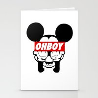 mickey Stationery Cards featuring mickey by WanderlustHipster