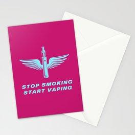 Stop Smoking Start Vaping 80s Vaping Stationery Cards