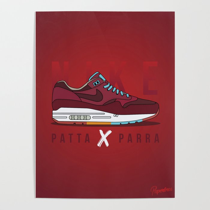 Air Max One - Patta x Parra Poster by Paperbro's