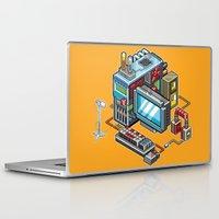computer Laptop & iPad Skins featuring 8bit computer by Sergey Kostik