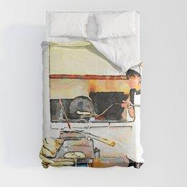 Istituto Emiliani: girl makes bread Comforters