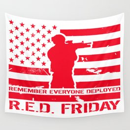 RED Friday Wall Tapestry