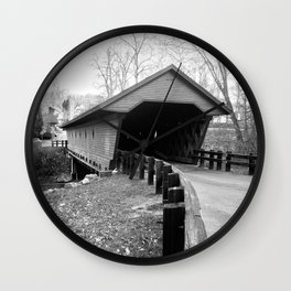 Newfield Covered Bridge 1853 Wall Clock