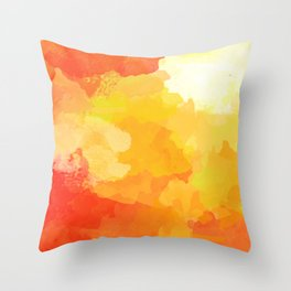Colorful Abstract - red orange pattern Throw Pillow