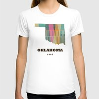 oklahoma T-shirts featuring Oklahoma state map modern  by bri.buckley