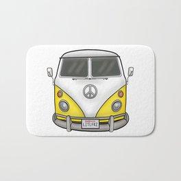 Yellow Camper Van - Hippie Bus Bath Mat