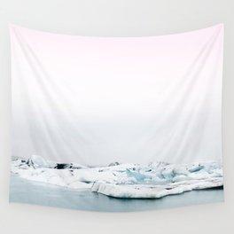 Beautiful glacier lagoon winter Wall Tapestry