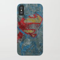 superman iPhone & iPod Cases featuring Superman by Fernando Vieira