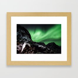 Aurora in Lofoten, Norway (II) Framed Art Print
