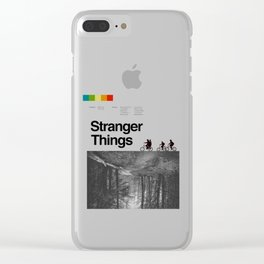 StrangerThings vintage Clear iPhone Case