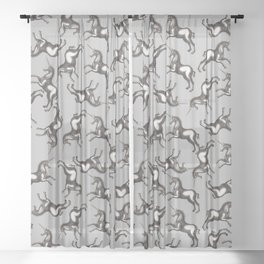 Dancing Unicorns Sheer Curtain