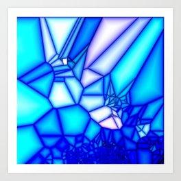 Glowing blue Art Print