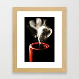Love is like a flame Framed Art Print