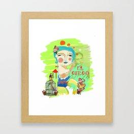 El Circo Framed Art Print