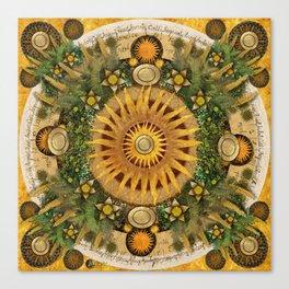 """Floral Aztec calendar"" Canvas Print"