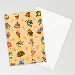 Whimsy desserts Stationery Cards