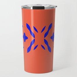 Luxury ornaments blueorange Travel Mug