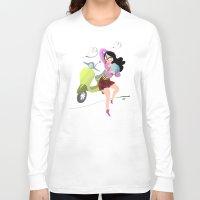 vespa Long Sleeve T-shirts featuring Vespa by Tora Nami