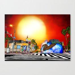 Santa Monica Gate Way Canvas Print