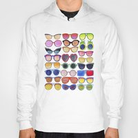 sunglasses Hoodies featuring Sunglasses by Veronique de Jong · illustration