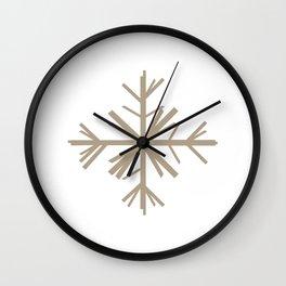 Christmas Winter Woodland Snowflake Wall Clock