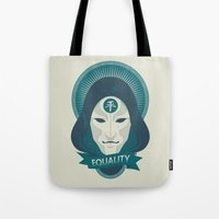 equality Tote Bags featuring EQUALITY by Akiwa