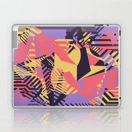 Dazzle Camo #03 - Purple & Yellow Laptop & iPad Skin