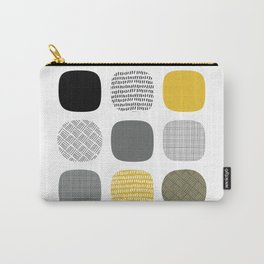 Abstract in mustard and grey Carry-All Pouch