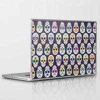 dia de los muertos Laptop & iPad Skins featuring Dia de los muertos by ewdondoxja