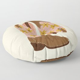 Cowgirl Boots – Blush & Mint Floor Pillow