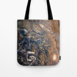 Swirling Clouds of Planet Jupiter Close Up from Juno Cam Tote Bag