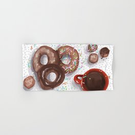 Donuts and Coffee For Me, Please! Hand & Bath Towel