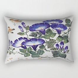 Trumpet Flowers and Birds Rectangular Pillow