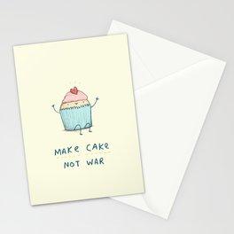 Make Cake Not War Stationery Cards