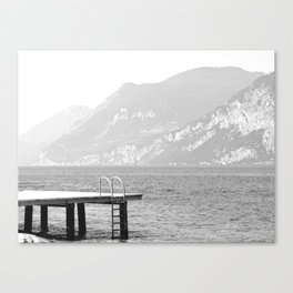 Swimming at lake Garda Italy Canvas Print