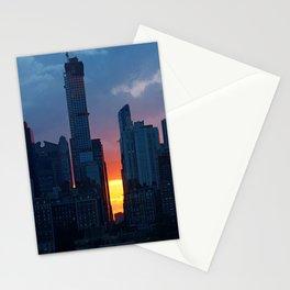 new york city ... sunset skyline Stationery Cards
