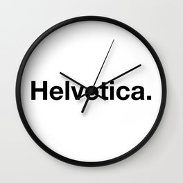 Helvetica. Wall Clock