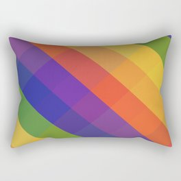 CRISS CROSS RAINBOW... Rectangular Pillow