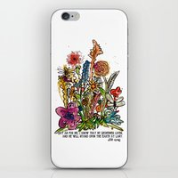 scripture iPhone & iPod Skins featuring Floral Watercolor with Scripture by Megan Schreurs