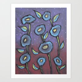 Blueflowers Art Print