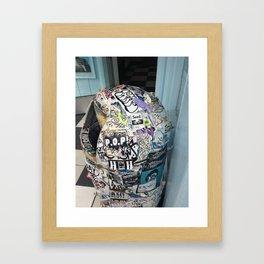 Hate and TrASH Framed Art Print