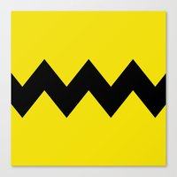 charlie brown Canvas Prints featuring Charlie Brown by Dustin Hall